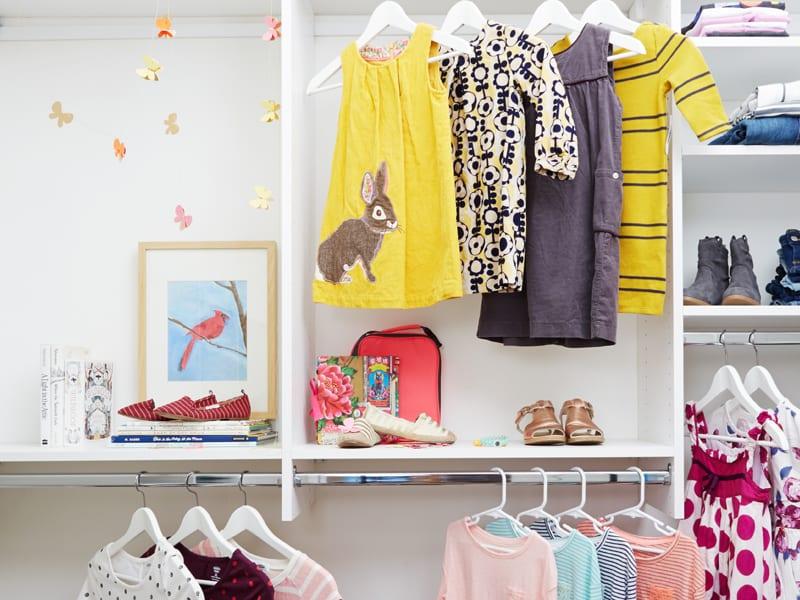 Kids Closets In Basic White. RIDGEWOOD CLOSETS