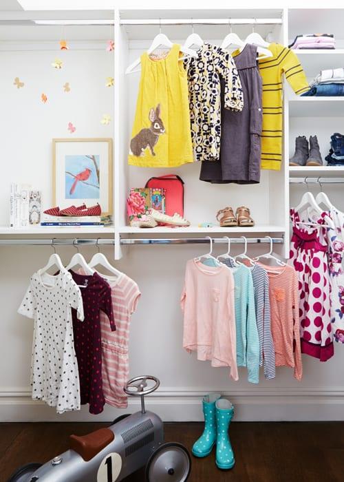 Awesome Basic White Kids Closet