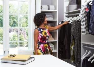 Ridgewood Closets master closet woman