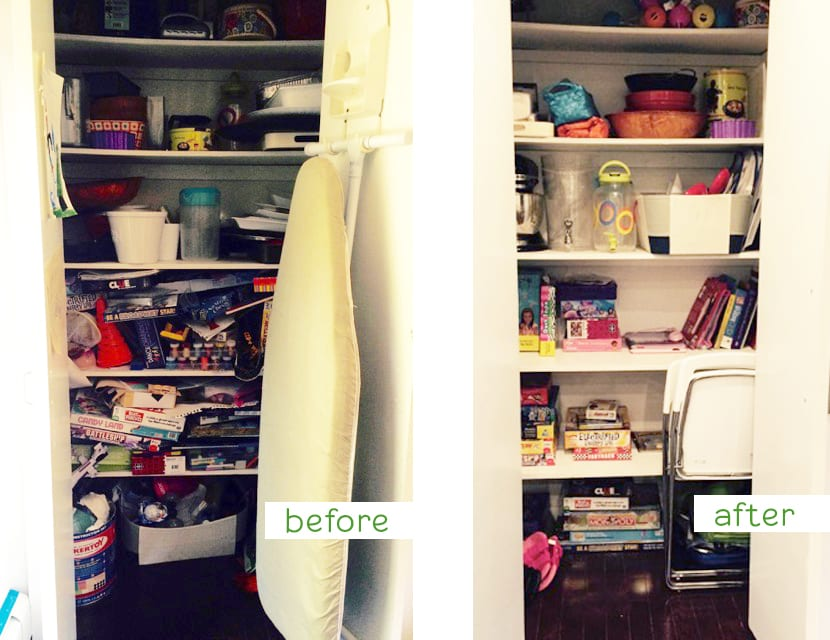 Ridgewood Closets decluttering before and after