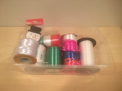 container to hold ribbons