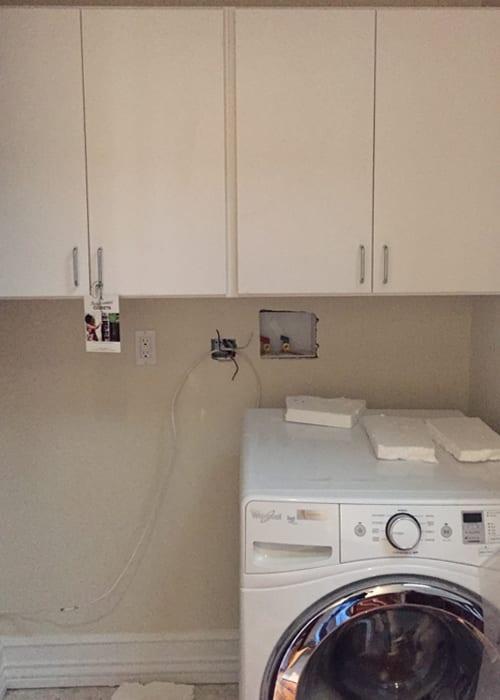 View Larger Image Ridgewood Closets White Laundry Cabinets